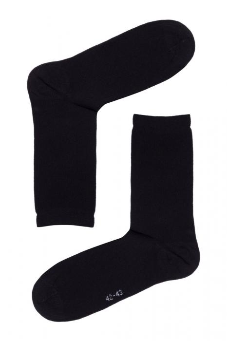 Șosete bărbați de bumbac fără cusături, Esli C-MС-01 negru [0]