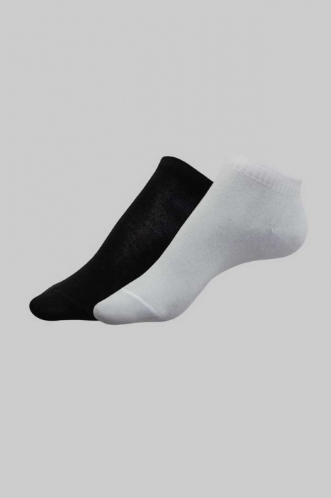 Șosete scurte damă bumbac (2 perechi), Esli Classic 800 alb-negru [0]