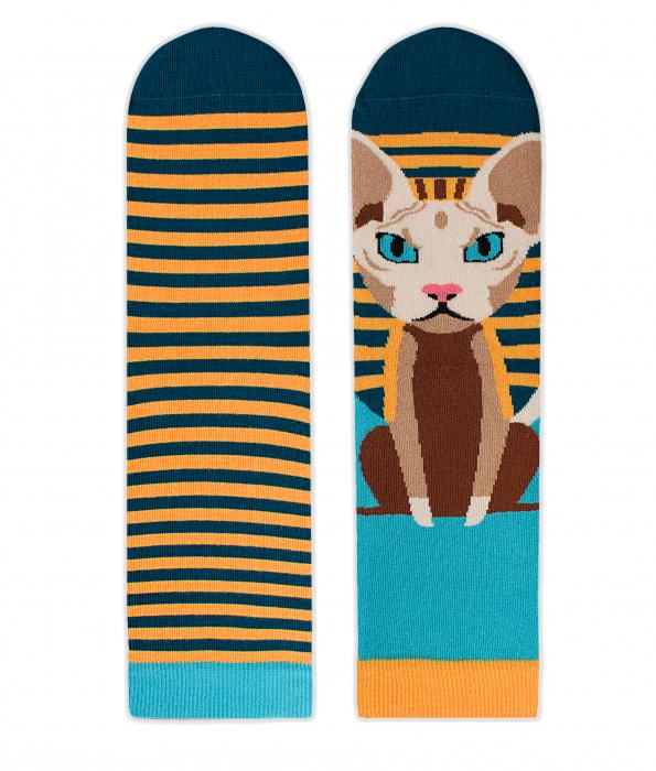 Sosete bumbac Funky Cat [1]