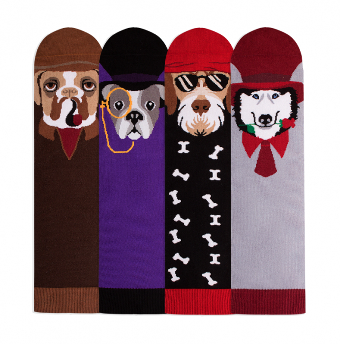 Sosete bumbac Dogs Box, 4 buc. [1]