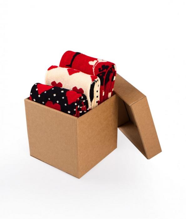 Sosete bumbac Love Box, 3 buc. [0]