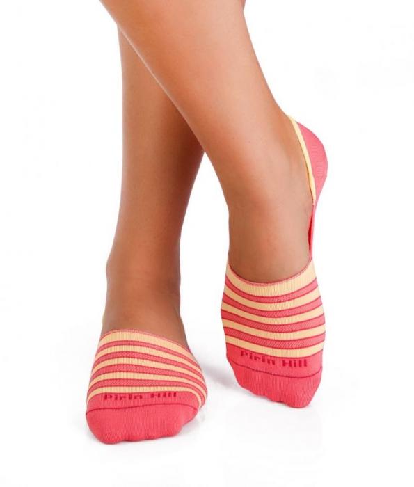 Sosete bumbac organice tip balerini Yellow Pink [1]