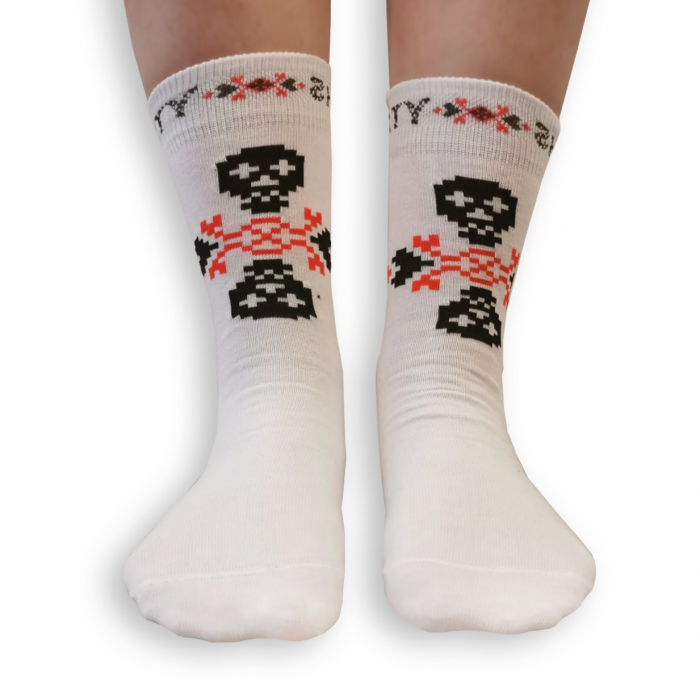 Sosete bumbac Dirty Socks White [1]