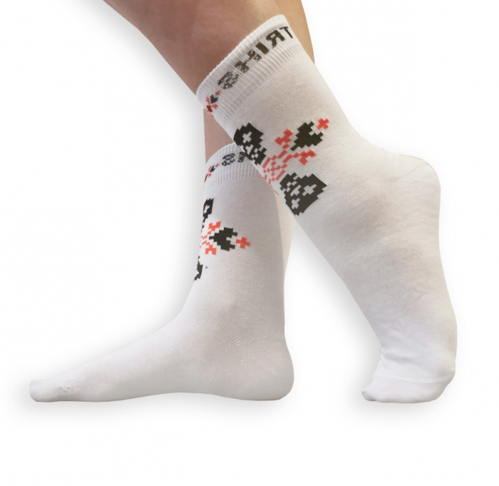 Sosete bumbac Dirty Socks White [2]