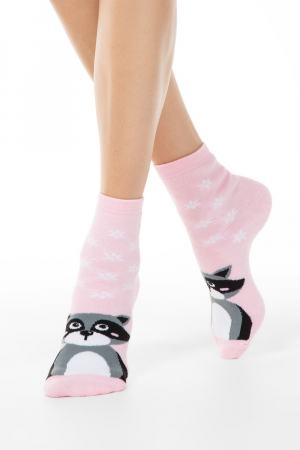 Șosete flaușate damă cu model raton, Esli Home Line 092 [0]