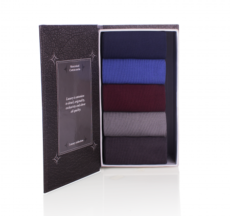 Sosete bumbac Mercerised Collection Luxory Box 5 buc [1]