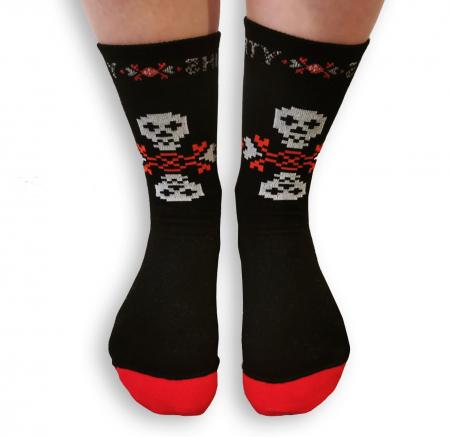 Sosete bumbac Dirty Socks black/red [1]