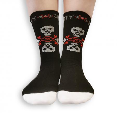 Sosete bumbac Dirty Socks black/white [1]