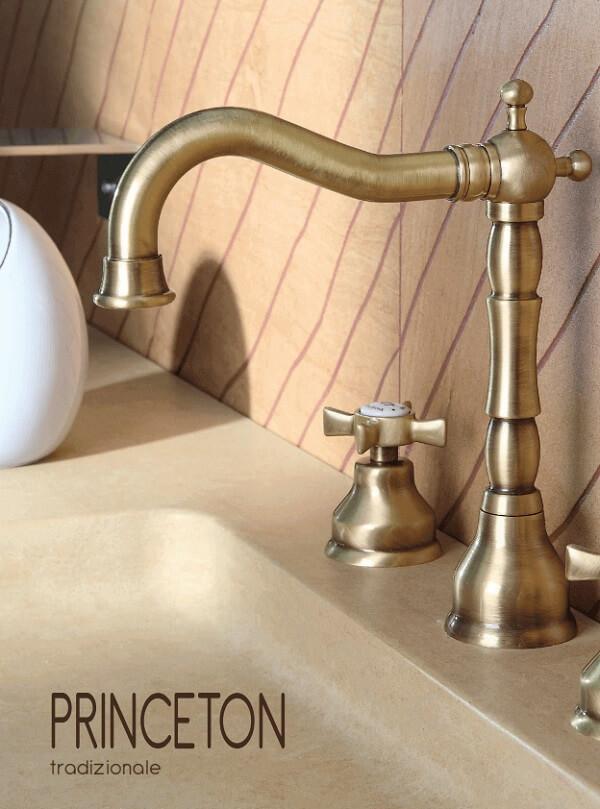 Prezentare baterie baie design traditional Bugnatese Princeton