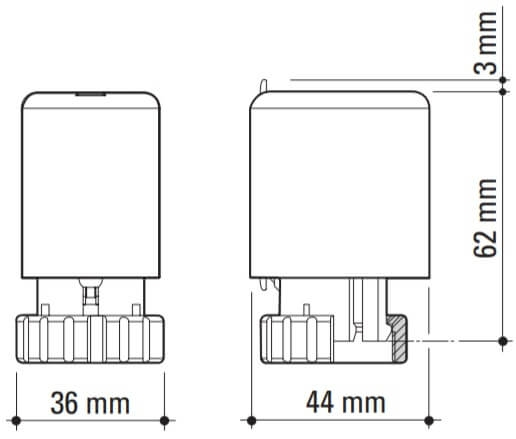 Actuator Emmeti 230V, NC [1]