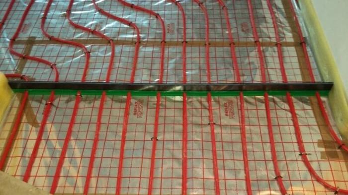 Folie cu aluminiu TECEfloor trasata, 52mp 1
