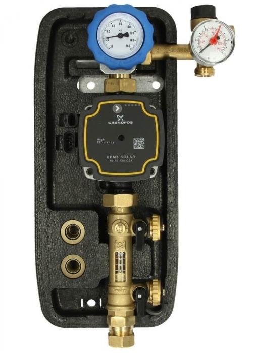 Grup de pompare simplu pentru instalatii solare cu pompa Grundfos UPM3 [0]