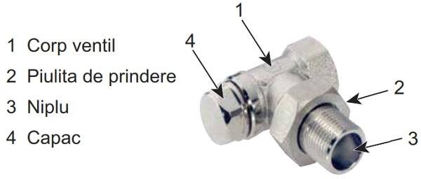 "Robinet coltar retur Jurgen Schlosser Armaturen 1/2"" FI x 1/2"" FE 1"