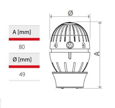 "Set robineti coltar, tur-retur cu cap termostatat Giacomini R470FX003, 1/2"" [2]"