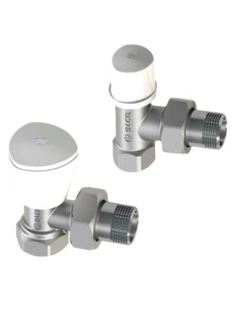"Set robineti radiator coltar tur-retur 1/2"" Arco KCM17 0"