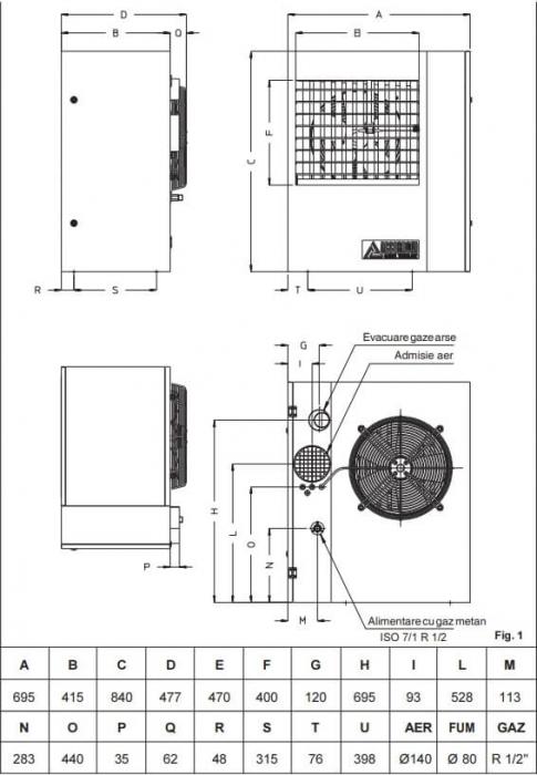 Aeroterma cu gaz Accoroni MEC 25 kW 1