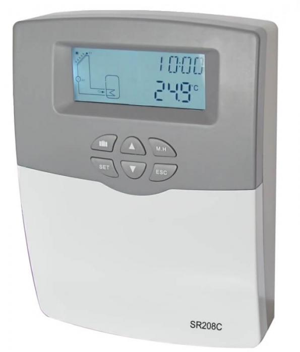 Controler pentru sistem de panouri solare termice SR 208C 0