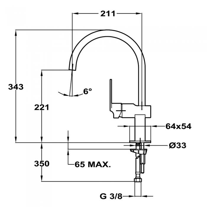 Baterie de bucatarie prevazuta cu teava de curgere inalta Teka MZ 915 N (Cuadro MZ White) 1