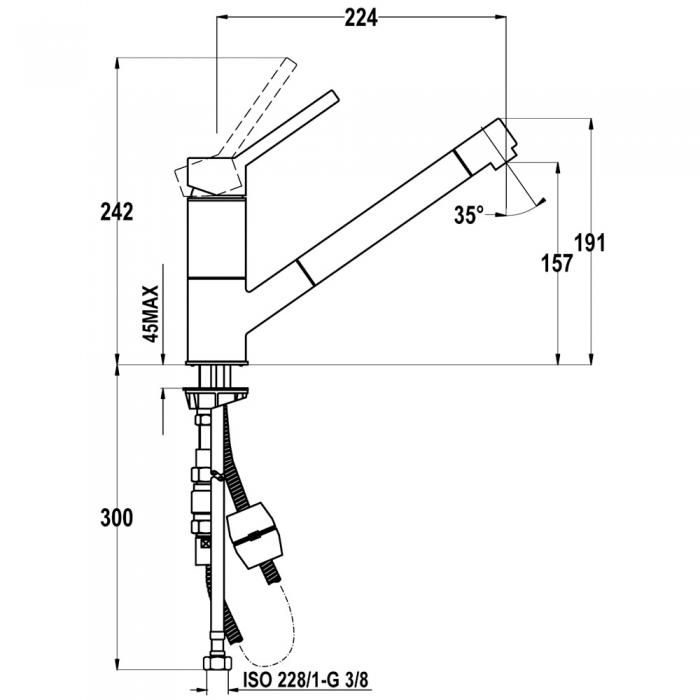 Baterie de bucatarie Teka Auk 978 Schwarzmetallic 1