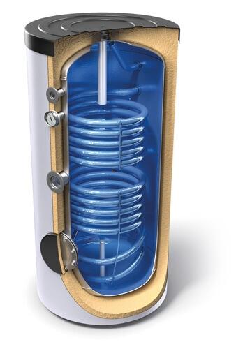 Boiler de sol cu doua serpentine Tesy EV 7/5 S2 200 60 - 200L 0
