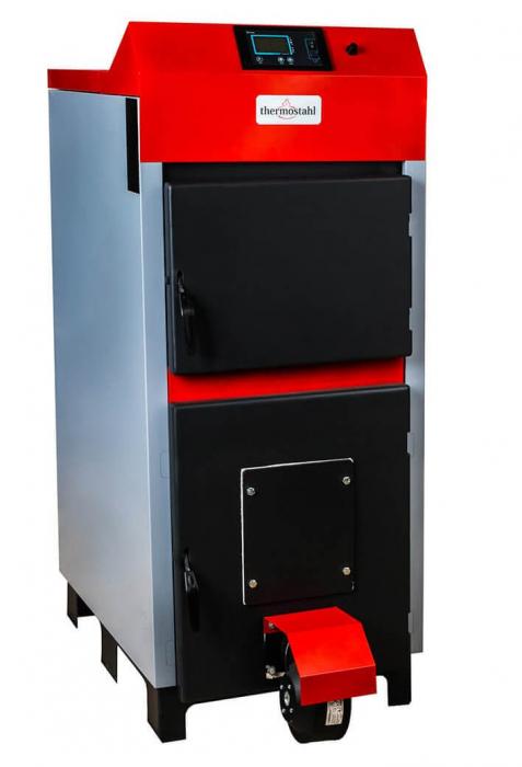 Cazan cu funcţionare pe combustibil solid Thermostahl ECOWOOD PLUS 30 kW [0]