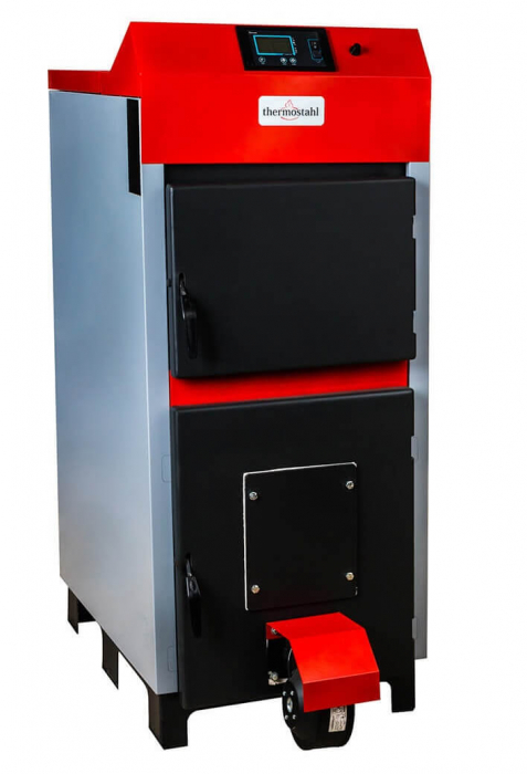 Cazan cu funcţionare pe combustibil solid Thermostahl ECOWOOD PLUS 50 kW 0