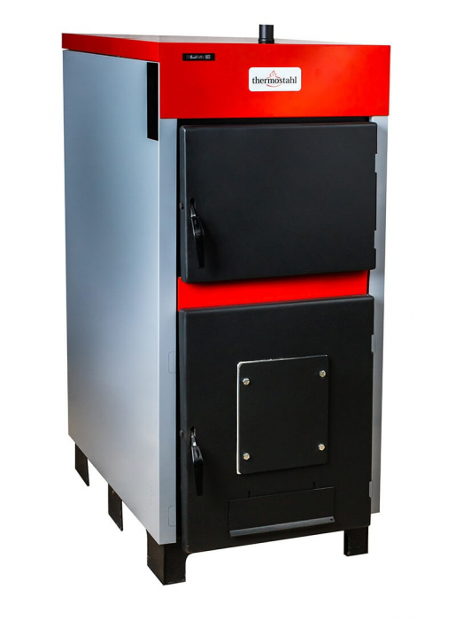 Cazan cu funcţionare pe combustibil solid Thermostahl ECOWOOD STANDARD 50 kW [0]