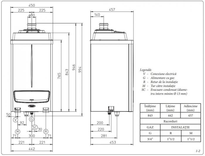 Centrala termica in condensare Immergas Victrix Pro 55 kW - numai incalzire 2
