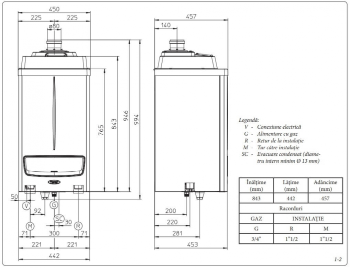 Centrala termica in condensare Immergas Victrix Pro 100 kW - numai incalzire 2