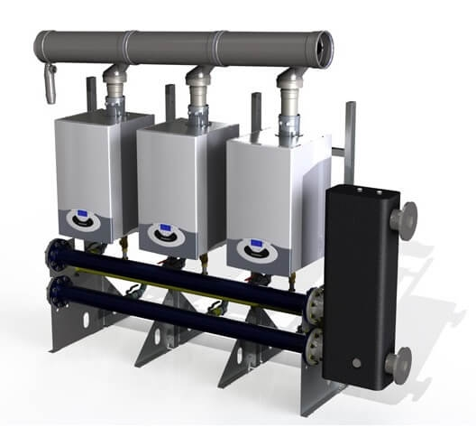 Centrala termica in condensare Ariston Genus Premium Evo HP 45 kW, doar incalzire 1