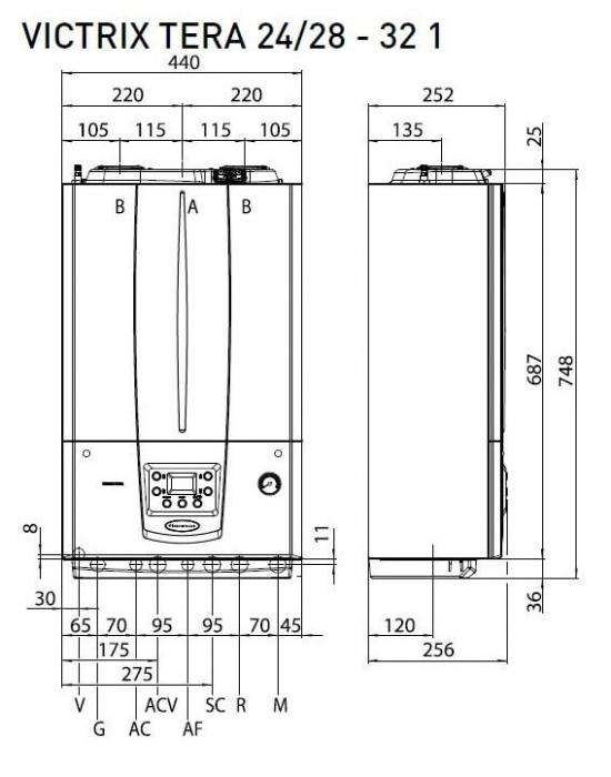 Centrala termica in condesare Immergas Victrix Tera 24/28 2