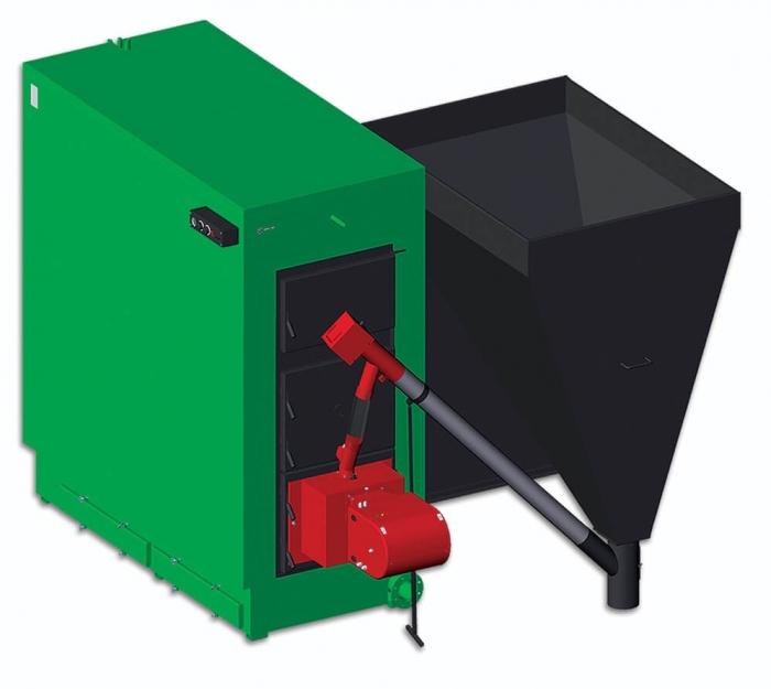 Centrala termica pe peleti si lemne Termofarc FI-P 800 - 650 kW 0