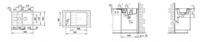 Chiuveta bucatarie cu doua cuve tegranit Teka Astral 60B TG 1 1/2B 1D 1