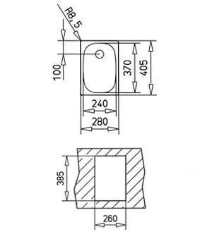 Chiuveta bucatarie din inox Teka Universal E/280.405 1B 1