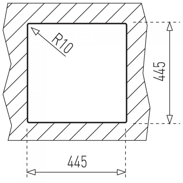 Chiuveta bucatarie din inox Teka Universal E/465.465 1B 1