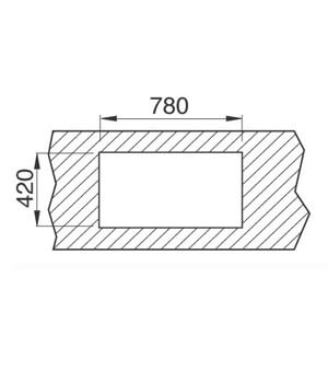 Chiuveta bucatarie din inox Teka Universal E/800.440 1B 1D 1