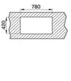 Chiuveta bucatarie din inox Teka Universal E/800.440 2B 1