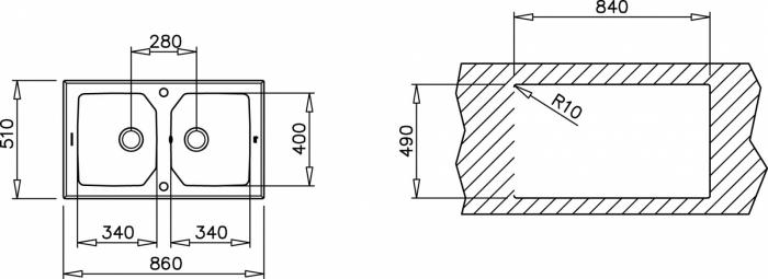 Chiuveta din inox Teka EXPRESSION LUX 2B 86 2