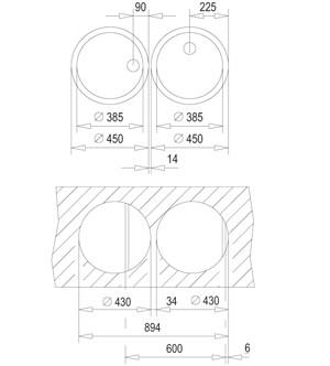 Chiuveta  rotunda din inox Teka ERC 3