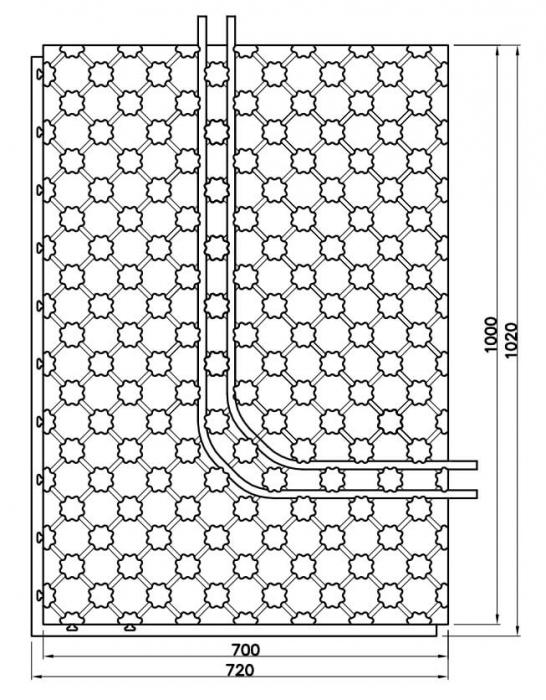 Placa cu nuturi pentru incalzire in pardoseala Fragmat Stirotermal CLASSIC 1000 x 700 mm 2