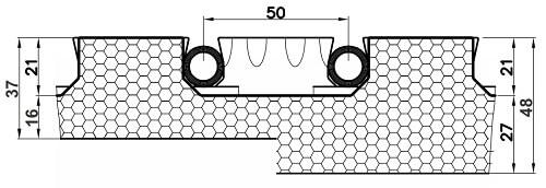 Placa cu nuturi pentru incalzire in pardoseala Fragmat Stirotermal CLASSIC 1000 x 700 mm 1