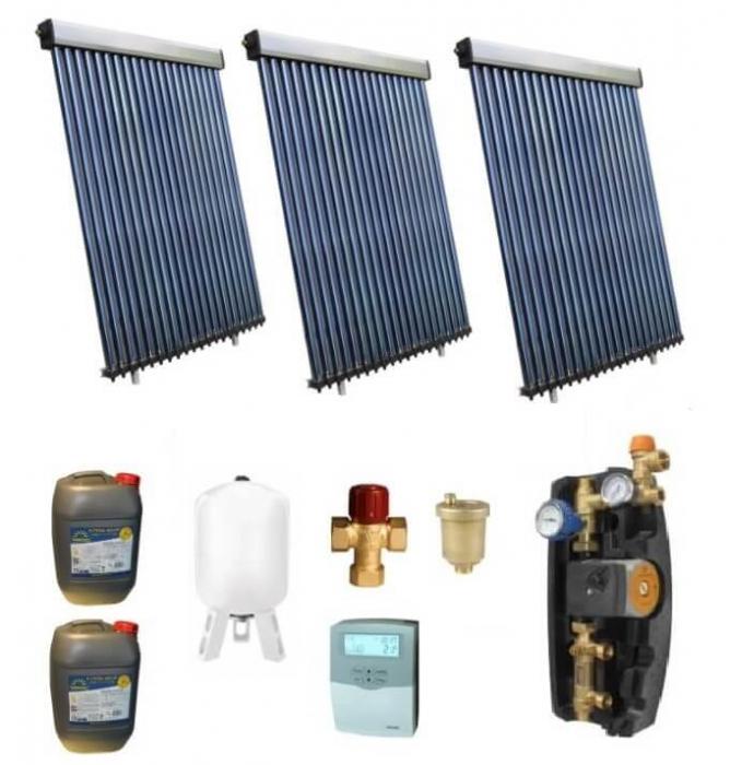Pachet panouri solare pentru boiler de 750l - 15 persoane 0