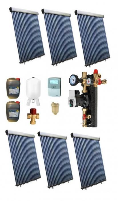 Pachet panouri solare pentru boiler de 1500l - 30 persoane 0