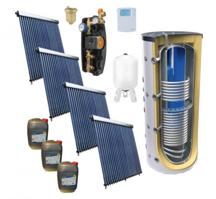 Pachet panou solar pentru 30 persoane cu boiler bivalent de 1500l [1]