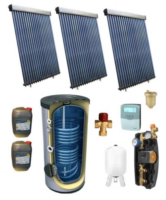 Pachet panou solar pentru 15 persoane cu boiler bivalent de 750l [0]