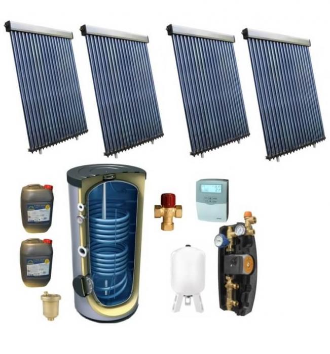 Pachet panou solar pentru 20 persoane cu boiler bivalent de 1000l [0]