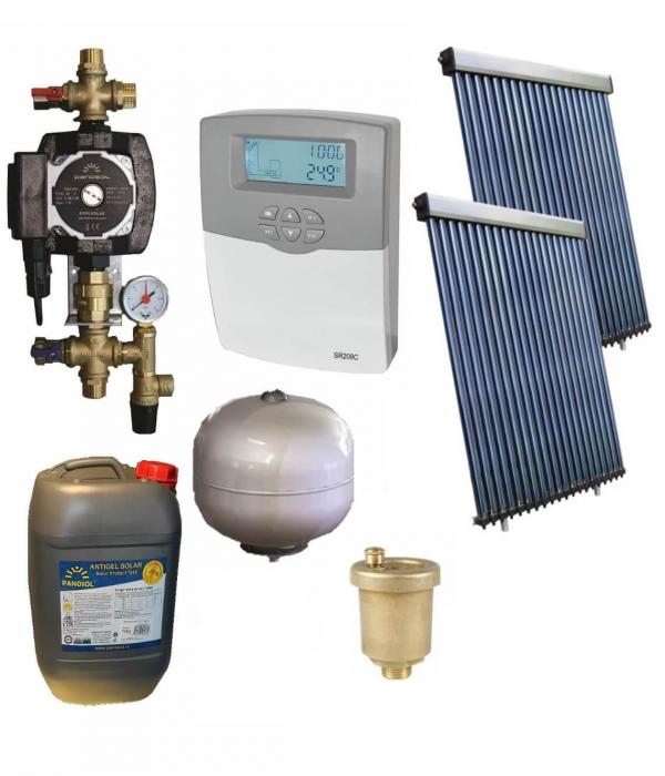 Pachet panouri solare pentru boiler de 500l - 10 persoane [0]