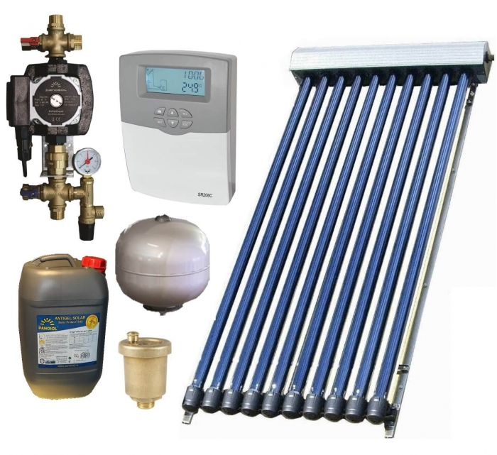 Pachet panou solar cu colector de 30 tuburi, fara boiler, pentru 5-6 persoane 0