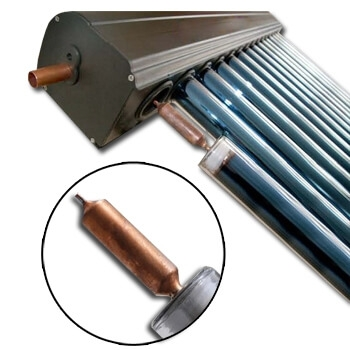 Panou solat cu tuburi vidate tip heat pipe Westech WT-B cu heat pipe marit [1]