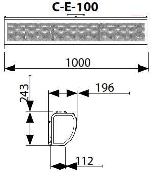 Perdea de aer electrica Flowair ELiS C-E-100, 1300 mc/h, trifazica 5